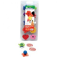 Ideal for use with paint or ink pads, each foam stamp is 3 in diameter and mounted on a clear see-through top for easy, exact placement. Foam Stamps, Ink Pads, Imaginative Play