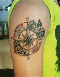 Wind rose tattoo