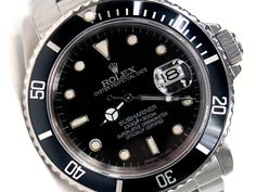 40mm Gents Rolex Stainless Steel Oyster Perpetual Submariner Watch. Black Dial. Stainless Steel Bezel, black insert. Stainless Steel Oyster Band. Style 16610.   Metal:  STAINLESS STEEL  Order Item:  31334  Style:  SUBMARINER  Gender:  GENTS  Band:  SS OYSTER  Dial:  BLACK  Bezel:  BLACK  Crystal:  SAPPHIRE  Movement:  AUTO  List Price:  $8,550  Our Price: call for price