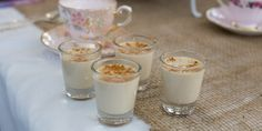 * For a caffeine free version add rooibos tea leaves in place of english breakfast tea leaves. * For our High Tea we served these Panna Cottas in 50ml shot