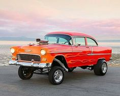 '55 Chevy Street Gasser.  So close to perfect... just change the wheels and tuck the back tires a hair.