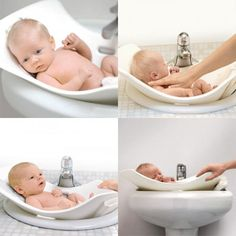 I totally want this! Perfect for a house with little to no storage.  PUJ baby bathtub  http://www.pujbaby.com/