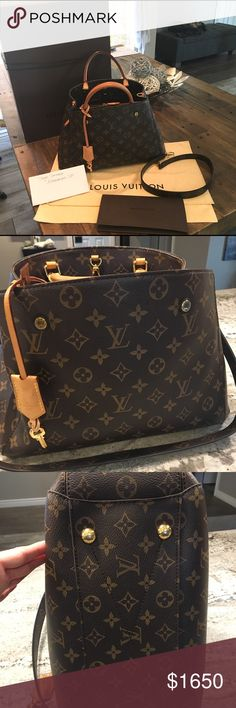 3e1b504809e8 Louis Vuitton Montaigne MM NO TRADES or LOWBALL OFFERS PLEASE! It s priced  fair. Lightly used in beautiful condition with light patina on handles