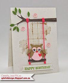 Splotch Design - Jacquii McLeay Independent Stampin' Up! Demonstrator: Sweet Swinging Owl Card