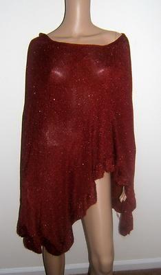 NWOT Womens Lane Bryant One Size Glitter Glittery Sheer Poncho Shawl