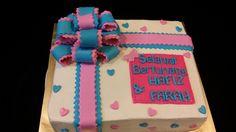 Ribbon cake #Chocolatemoist #Sweetcreation20 #ribbon #birthday #presentcake