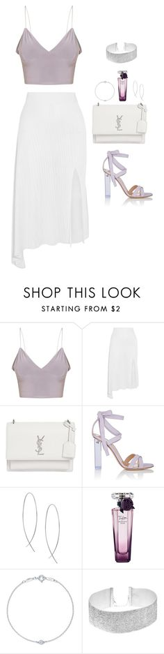 """""""Untitled #502"""" by hayleyl22 ❤ liked on Polyvore featuring Cushnie Et Ochs, Yves Saint Laurent, Gianvito Rossi, Lana, Lancôme and Elsa Peretti"""