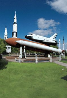 """The US Space & Rocket Center - One Tranquility Base - Huntsville, Alabama - a combination science museum and theme park. It's a great place to take a kid, or to become one again. The center has IMAX films, exhibits, rides and video presentations. OVER 1500 artifacts from America's achievements in space exploration! """"More an exciting education center than a museum. Amazing!!"""" ~G.Q. : Atlanta, GA. The best space collection on the planet."""