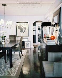 glammy man dining room