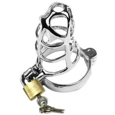 Description  100% brand new and high quality  Material: Stainless Steel  Color: As the picture shows,Bag has two colors(Black,Red,Random delivery)  The fully lockable chastity devices are made from polished steel  The device is small enough to wear under normal outfits, but big enough to stop your man having some solo time  This is a well made device and easy to keep clean  Steel Male Chastity Device  Bird cage Chastity Device is designed to make sure that no matter how aroused he…