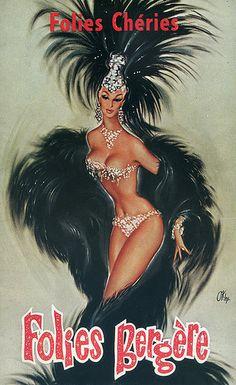 Folies Bergere Showgirl poster