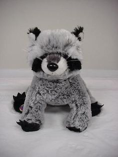 WEBKINZ RACCOON (RETIRED)~PLUSH ONLY~NO CODE~FREE SHIPPING $7.50