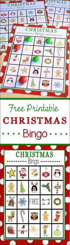 Free Printable Christmas Bingo @Jennifer Mccullough Want me to do this for next week?