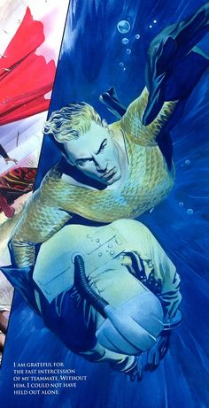 Image of Aquaman from JLA Liberty and Justice, by Alex Ross
