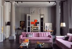 I+remember+seeing+this+apartment+on+the+cover+of+the+book+New+Paris+Style+but+didn't+know+the+designer+until+today.+It+is+the+home+of+interior+designer+Florence+Baudoux+which+is+a+Haussmann+apartment+of+epic+proportions.+The+entire+space+is+painted+grey+and+could+be+dark+if+it+were+not+for+the+tall+[…]