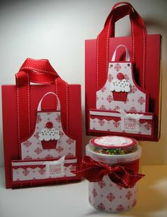 Inking Idaho: More Cake Mixes - cute way to package them