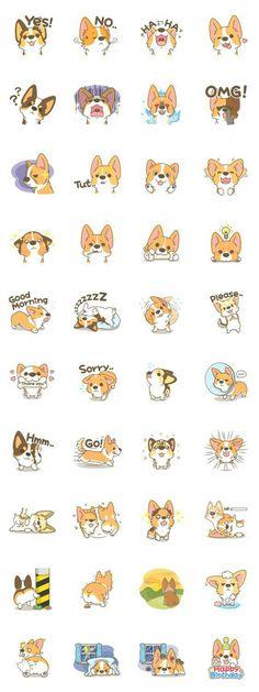 画像 - Corgi a collection by Pon Mei - Line.me Obtain the best Corgi stuffs exclusively at Corgilover. Mini Corgi, Corgi Dog, Animals And Pets, Funny Animals, Cute Animals, Cute Animal Drawings, Cute Drawings, Corgi Drawing, Pembroke Welsh Corgi