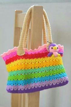 Free Crochet Bag Patterns Part 24 - Beautiful Crochet Patterns and Knitting Patterns Free Crochet Bag, Crochet Shell Stitch, Crochet Diy, Crochet Tote, Crochet Handbags, Crochet Purses, Crochet Crafts, Crochet Hooks, Crochet Diaper Bag
