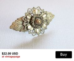 Vintage Silver Floral Pin #vintage #jewelry #ecochic #vogueteam #etsy