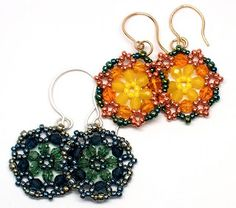 gwenbeads: Video Tutorial on Beaded Circle Earrings Using Hexagon Weave