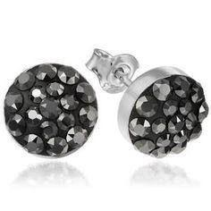 Cercei din Argint cu Cristale Swarowski – e-Crystal Swarovski, Crystal