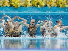 Rusia, tetracampeona en nado sincronizado