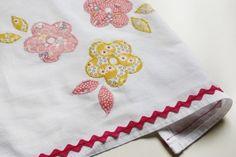 How to Applique: Spring Time Tea Towel DIY