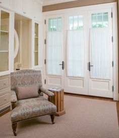 Sheers for a french door