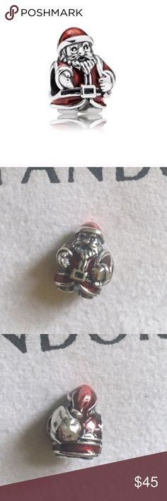 Pandora Santa Claus Charm Christmas charm Authentic pandora charm. Pandora Father Christmas charm. A red Santa Claus carrying his sack of toys. Sterling silver charm with red enamel, stamped with S925 Ale on the bottom.  *Price includes the charm only, box sold separately as I didn't keep many*  • Bundle to save! • No trades • No holds  #Pandora charm, Father Christmas Pandora charm, Red Pandora charm, Christmas Pandora bracelet, Pandora Christmas charm, retired Pandora charm, discontinued…