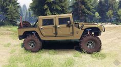 Hummer army green for Spin Tires 4x4 Trucks, Lifted Trucks, Cool Trucks, Hummer H1, Bug Out Vehicle, American Motors, Car Wheels, Army Green, Cars And Motorcycles