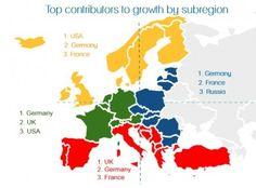 Infografía: mercados emisores top para los destinos europeos. La llegada de viajeros crecerá un 3,8% anual hasta 2016. Via/  Hosteltur.