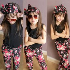 3pcs-Fashion-Baby-Kids-Girls-Outfits-Headband-T-shirt-Floral-Pants-Clothes-Set