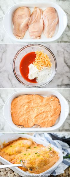 THE BEST Buffalo Chicken Casserole. So easy and SO DELICIOUS!