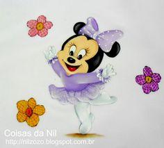 Coisas da Nil - Pintura em tecido: Minnie Mouse