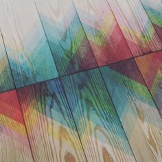 textures and patterns are revealed when colored dye is applied to the wood via a bath