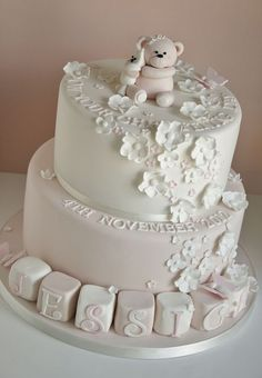 Christening cake by Cotton and Crumbs via Flickr