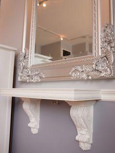 Salon Design in Vintage Style: Exciting Port Credit Beauty Salon Details Carved Mirror Frame