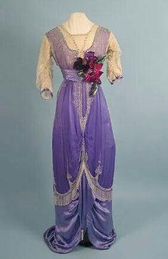 1912 silk gown