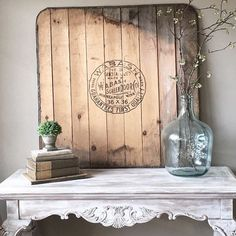 Old wood and mantle shelf
