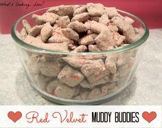What's Cooking, Love?: Red Velvet Muddy Buddies