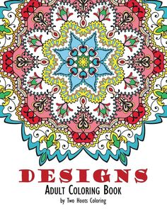 Adults Coloring Book Design Mandala Patterns Stress Relief Art Therapy Fun New