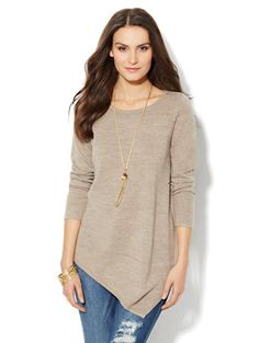 Shop Asymmetrical Tunic Sweater. Find your perfect size online at the best price at New York & Company.