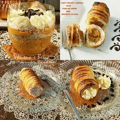 Вкусно с Бети: Каноли от бутер тесто, с три плънки - Puff Pastry Cannoli with…