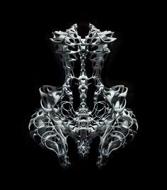 Capriole. Iris van Herpen (with Isaïe Bloch), 3D print in polyamide. Photo: Ingrid Baars