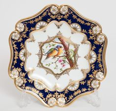 An Antique Coalport Hand Painted Cabinet Plate with Birds #DessertPlates