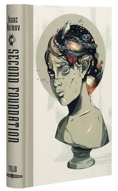 Individual covers for The Folio Society edition of Asimov's The Foundation Trilogy