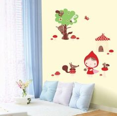 Amazon.com: Jiniy RED RIDING HOOD WALL ART DECOR Mural Decal STICKER(JSWST041): Home & Kitchen