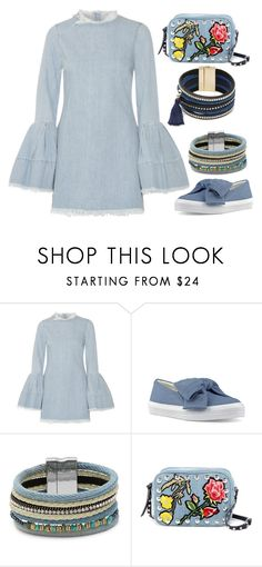 """""""The Wind Chimes"""" by staysaneinsideinsanity ❤ liked on Polyvore featuring Marques'Almeida, Nine West, Cara and Steve Madden"""