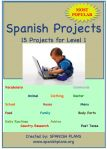 15 Amazing Projects for Lesson I Spanish class.