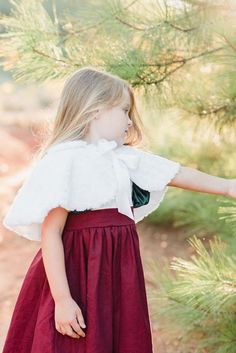 Capelet Toddler Capelet Flower Girl Capelet Faux Fur